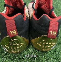 Joey Votto Cincinnati Reds Game Used Cleats 2016 Gold Signed Beckett LOA