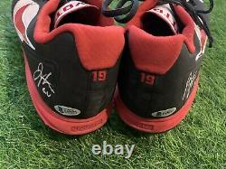 Joey Votto Cincinnati Reds Game Used Cleats 2017 Signed Beckett Authenticated