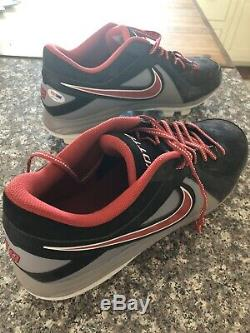 Joey Votto Game Used Cleats With PSA/DNA COA. Photo Matched Style To 2013 Season