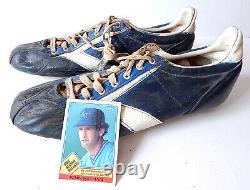John Wathan #12 Game Used Vintage Baseball Cleats KC Royals