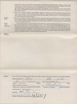 Johnny Callison Game Used Bat + cleats 73' Yankees Contract 3 Topps Vault proofs