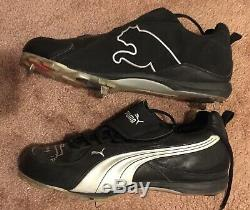 Johnny Damon Game Used Worn Autograph Signed Cleats 2009 Yankees Red Sox
