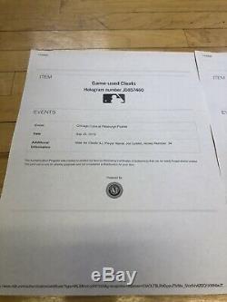 Jon Lester 2019 Season Game Used Cleats MLB Authentication Hologram