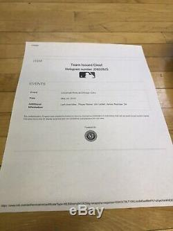 Jon Lester 2019 Season Game Used Cleats MLB Team Issued Authentication Hologram