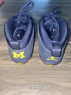 Jordan 10 PE retro Michigan Cleats Game Used Size 12.5