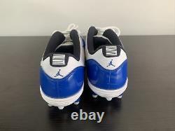 Jordan 11 XI Retro Low Game Royal -Football Cleats TD AO1560-107 Size 14
