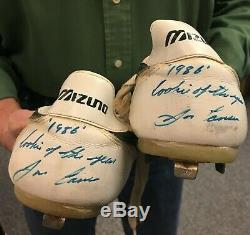 Jose Canseco Game Used Rookie Mizuno Cleats JSA AUTHENTICATION