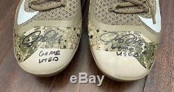 Josh Donaldson GAME USED CLEATS pair autograph SIGNED Blue Jays MEMORIAL DAY