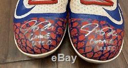 Josh Donaldson GAME USED CLEATS pair autograph SIGNED Blue Jays worn MVP
