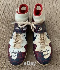 Josh Donaldson GAME USED CLEATS pair autograph SIGNED Braves worn 2019
