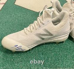 Josiah Gray Autographed Game Used Cleats Dodgers #1 Pitching Prospect