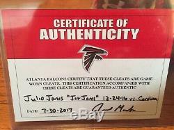 Julio Jones Atlanta Falcons Game Used Cleats Alabama Crimson Tide