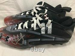 Julio Jones Atlanta Falcons Game Used Worn Cleats 10/02/16 Panthers Auto TD COA