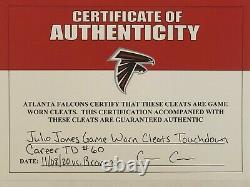 Julio Jones Atlanta Falcons Game Used Worn Cleats 11/08/20 vs Broncos TD COA