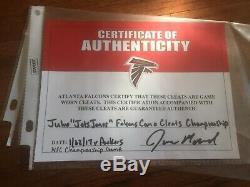 Julio Jones Nfc Championship Champions Game Used Cleats Atlanta Falcons Alabama