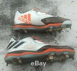 Justin Bour Miami Marlins Game Used PE Adidas Cleats MLB Angels Photo Matched