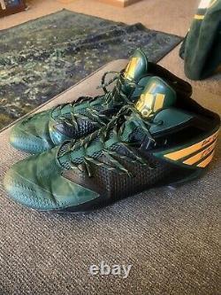 Kenny Clark Game Used/Practice Used Signed Cleats Green Bay Packers Inscribed