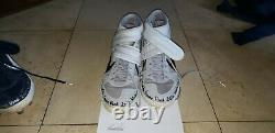 Kevin Kiermaier Tampa Bay Rays 2020 World Series Game Used Autograph Cleats Rare