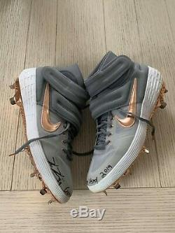 Kevin Kiermaier autographed signed Game Used Cleat Pair Tampa Bay Rays JAG LOA