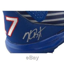 Kris Bryant Cubs Signed GU Blue with White Stripe Cleats   Game Used 2017  Insc 8f8435d50