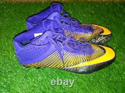 Kyle Rudolph Vikings Game Used Cleats Signed