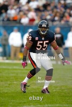 Lance Briggs Chicago bears game used worn Pink BCA Cleats