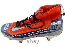 Lance McCullers Jr Signed Game Used Astros 2017 ALCS GM4 Cleat Inscribed TRISTAR