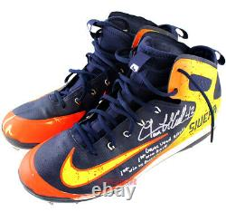 Lance McCullers Jr. Signed Game Used Astros 2018 Cleat Multi Inscribed TRISTAR