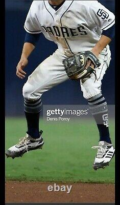 Luis Urias Game Used & Autographed/Signed MLB Rookie Cleats! Padres Brewers