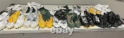 Mache Custom DIOR 1 Packers DAVANTE ADAMS Game Used Jordan Custom Dior 1 Cleats