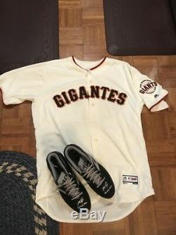 Madison Bumgarner SF Giants Autographed Cleats Game Issued&Game USED WORN Jersey