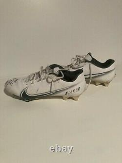 Malik Taylor NFL Game Used 2020 Signed Cleats Green Bay Packers Worn