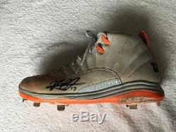 Manny Machado 2017 game used Signed Air Jordan 6 Cleats Orioles PSA/DNA