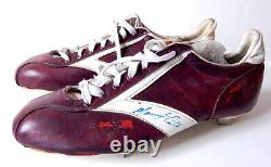 Manny Trillo Game Used Signed Brooks Vintage Baseball Cleats Phillies Auto