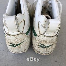 Mark McGwire game used Signed autographed Reebok cleats Oakland As Cardinals