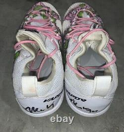 Matt Kemp Game Used Cleats Mothers Day 2017 Signed MLB Authenticated
