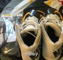 Maurkice pouncey Practice Used Cleats Gloves Steelers Pittsburgh Not Game Used