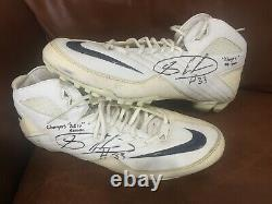 Michael Griffin Game Worn Used Tennessee Titans Cleats Texas Longhorns Shoes