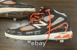 Miguel Cabrera Game Used 2012 Cleats Onyx COA Signed Inscribed Autograph Rare