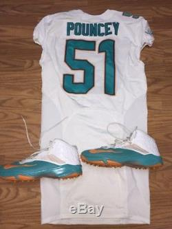 Mike Pouncey #51 Miami Dolphins Game Used Worn Jersey Cleats Pro Bowl Seahawks