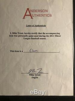 Mike Trout 2011 Game Used Cleats Signed And Inscribed Anderson Coa With Bonus