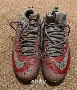 Mike Trout GAME USED 2016 MVP SEASON CLEATS game worn SIGNED auto ANGELS spikes