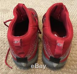 Mike Trout GAME USED 2017 CLEATS game worn SIGNED auto ANGELS MVP