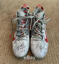 Mike Trout GAME USED 2018 CLEATS game worn SIGNED auto ANGELS spikes