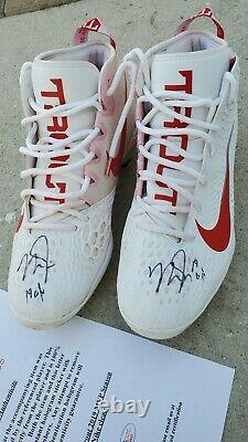 Mike Trout GAME USED 2019 MVP SEASON CLEATS game worn SIGNED Autographed Angels