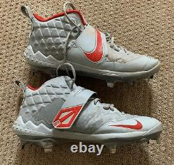 Mike Trout GAME USED 2019 MVP SEASON CLEATS game worn SIGNED auto ANGELS spikes
