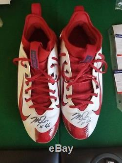 Mike Trout Signed Game Used Cleats Angels Certified Anderson Authentics Psa/dna