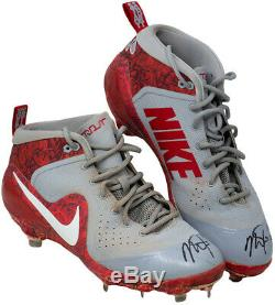 Mike Trout Signed Game Used L. A. Angels 2018 Pair of Nike Cleats 18 GU BAS LOAS