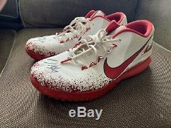 Mike Trout Signed Game Used Nike Turf Shoes Anderson Autographed Angels Cleats