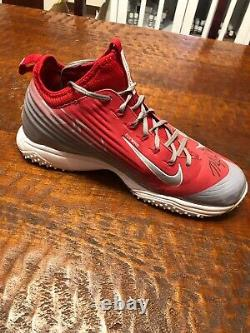 Mike Trout Signed Game Used Worn Nike Turf Shoe Jsa Coa Autographed Angels